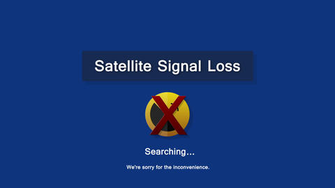 Loopable animation of a complete loss of satellite signal for any Corner pin TV  Animation