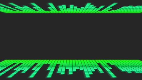 Green Music Audio Bars with room for title Animation