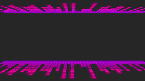 Pink Dancing Audio Music Bars with room for title Stock Video Footage