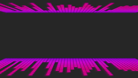 Pink Dancing Audio Music Bars with room for title Animation