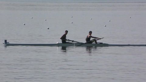 Rowing Championship Coxless Pairs Man Live Action