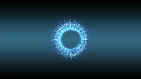Blue HUD design CG動画素材