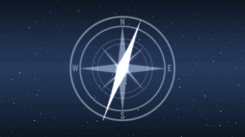 Modern futuristic digital compass Animation