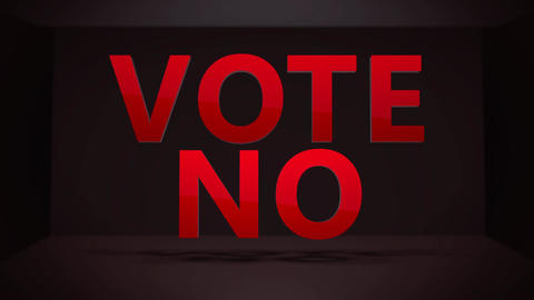 A Vote No political generic statement for any commercial Animation