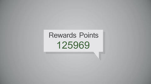 A fictional generic rewards points button on a computer screen Animation