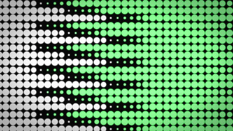 Scrolling Green Graphics circle background Animation