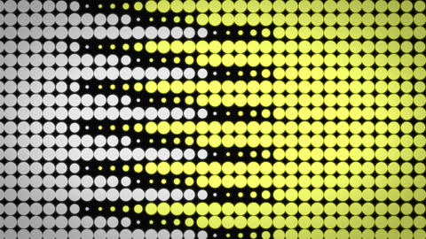 Scrolling Motion Graphics yellow circle background Animation