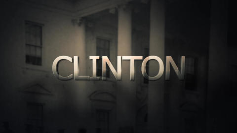 Political foreboding slow pan of Presidential candidate Hillary Clinton Animation