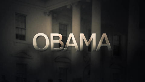 Political foreboding slow pan of President Barrack Obama Animation