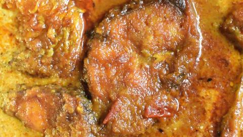 Rohu fish kalia - a spicy Bengali dish Footage
