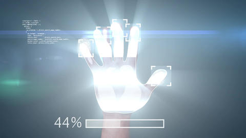 Fingerprint, Access Granted, 3d animation with a green screen at the end Animation