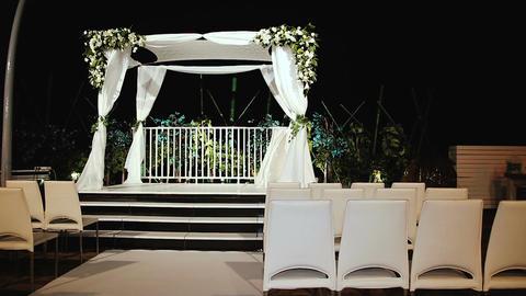 Jewish traditions wedding ceremony. Wedding canopy (chuppah or huppah) Live Action