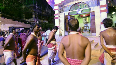Hindu devotees dancing for Charhak festival, for... Stock Video Footage