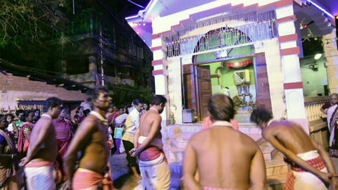 Hindu devotees dancing for Charhak festival, for welcoming Bengali new year 1424 Live Action