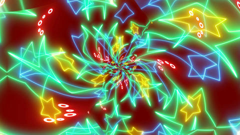 Abstract animation of Color kaleidoscope texture Animation