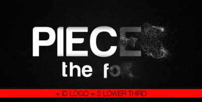 Pieces the font After Effects Project