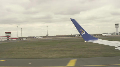 Before take-off, accelerating on runway Footage