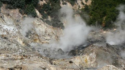 volcano crater closeup smoking Filmmaterial