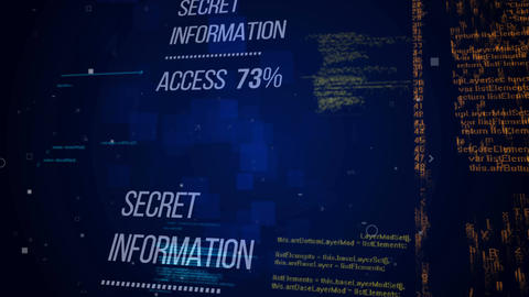 Secret Information Access. Security concept Animation