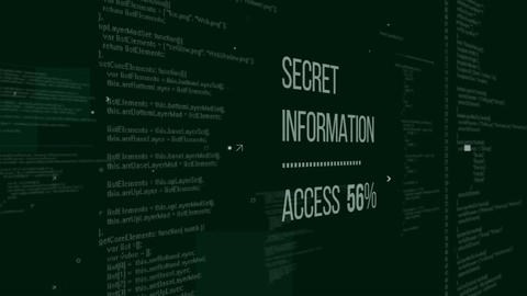 Secret information words with access procentage, Stock Animation