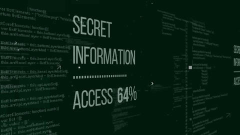 Secret information words with access procentage Stock Video Footage