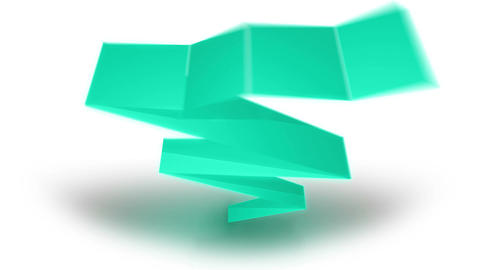 Paper ribbons on a white background Animation
