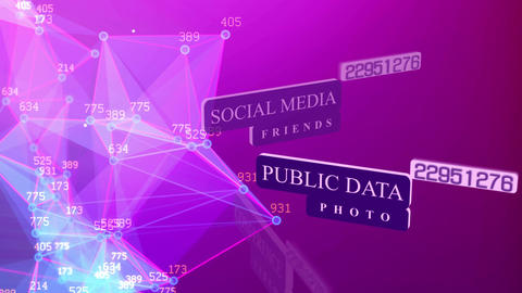 Public data, photo, social media, login password Animation