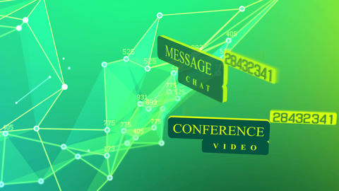 International social media network concept Animation