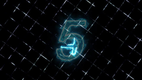Count 5 Energy Flame Blue CG動画