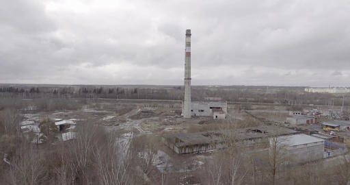 Ruins Of Old Factory Footage