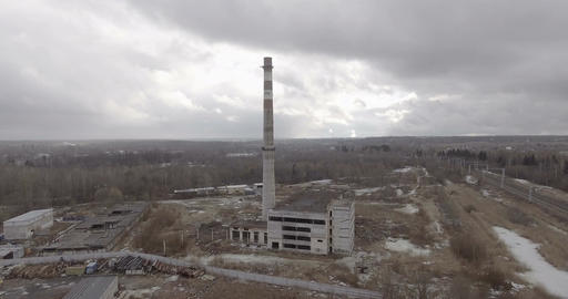 Apocalyptic Industrial Landscape Footage