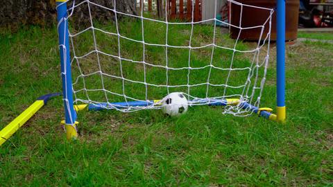 Children's toy goal set Footage