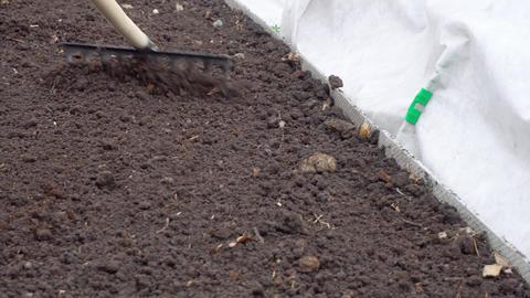 Hard spring gardening Footage