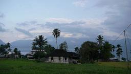 Rural Houses,Lake Maninjau,Sumatra,Indonesia stock footage