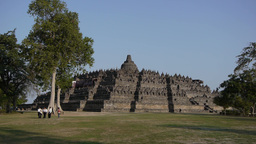 Borobudur Temple from a distance,Borobudur,Indonesia Footage