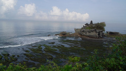 Temple with waves,Tanah Lot,Indonesia Footage