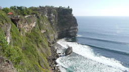 Ulu Watu cliff temple and waves,Ulu Watu,Indonesia Footage