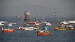 Boats for the coast in Bombay,Mumbai,India Footage