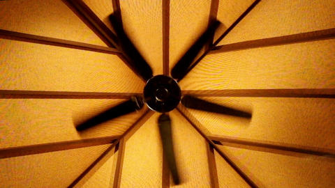 Rotating celling fan abstract video Footage