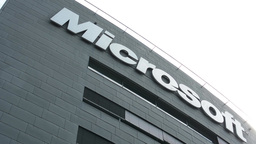 Microsoft headquarters - detail of building: sign Footage