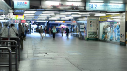 commuter people - timelapse - people walking in the subway Footage