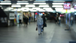 commuter people - people in the subway - timelapse - blurred shot Footage