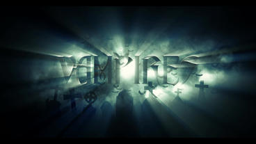 Title Vampires stock footage