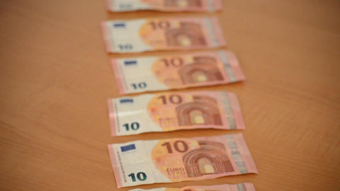 New Ten Euro Bills Footage