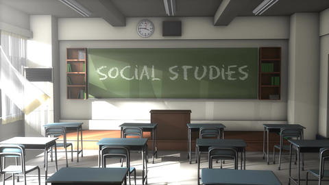 Empty Social studies school classroom Animation