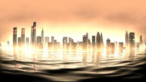 Burning city2 Animation