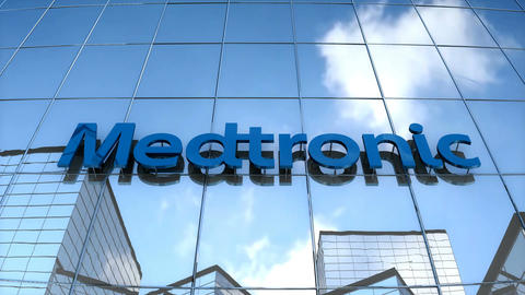 Editorial Medtronic on glass building Animation