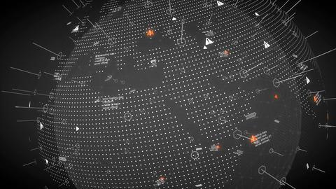 Digital design worldmap, network, technology Animation
