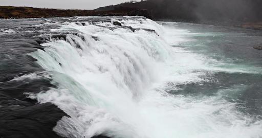 Vatnsleysufoss Waterfall In Iceland Footage