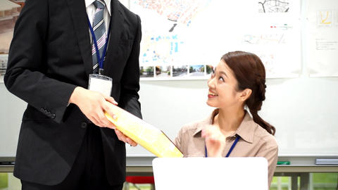 Business image (insert, break, gift) ビデオ
